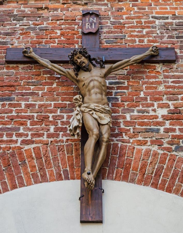在十字架上钉死 库存照片