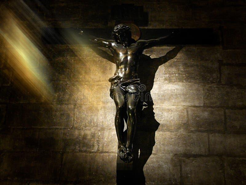 在十字架的Jesús 库存图片