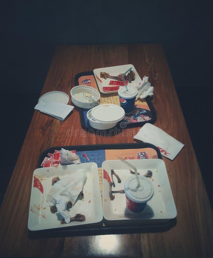 在午餐以后的小包 免版税库存照片