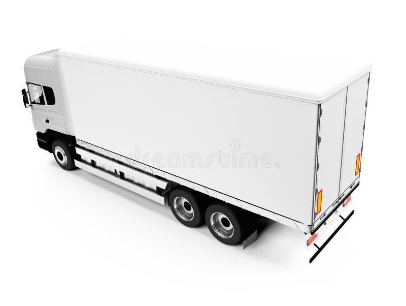 在半卡车白色 皇族释放例证