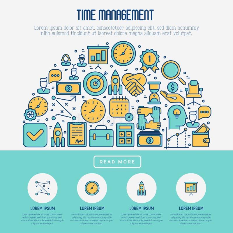 在半圈的时间安排概念 向量例证