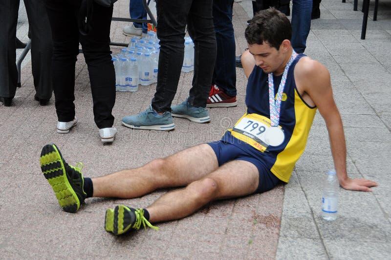在半马拉松以后在普罗夫迪夫 免版税库存图片