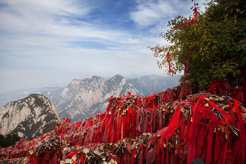 在华山的风景 库存照片