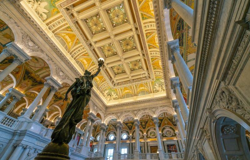 在华盛顿特区的国会图书馆 库存图片
