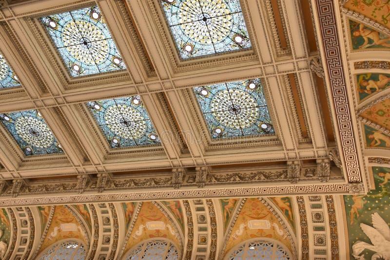 在华盛顿特区的国会图书馆 免版税库存图片