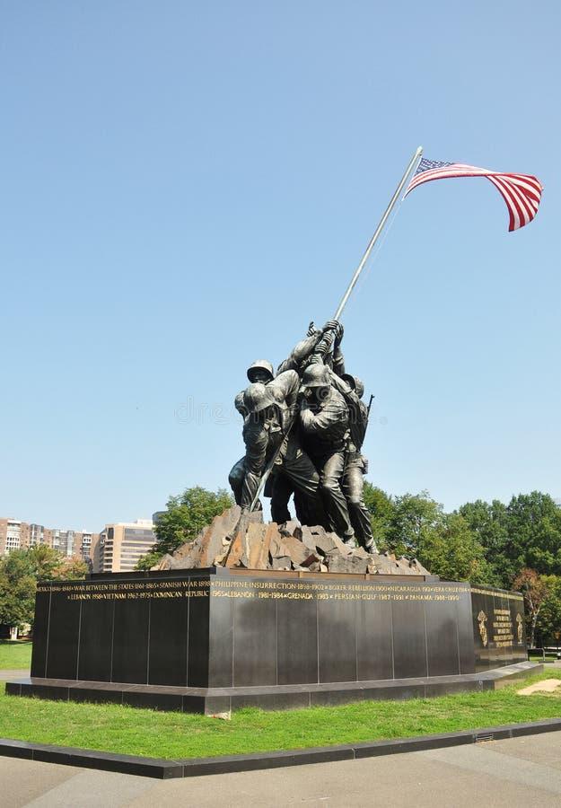 在华盛顿特区的硫磺岛纪念品,美国 免版税库存图片