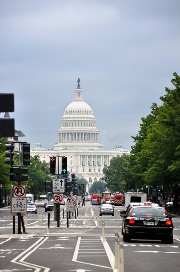 在华盛顿特区的美国国会 免版税图库摄影