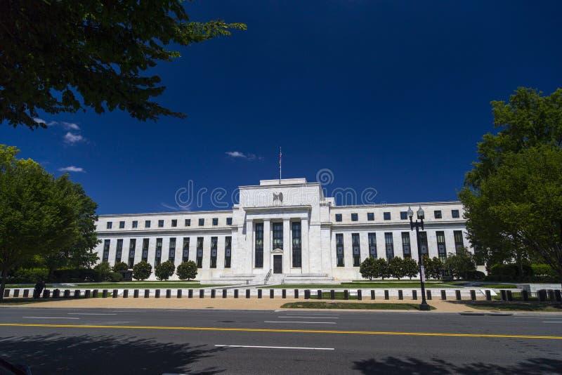 在华盛顿特区的美联储大厦 免版税库存图片