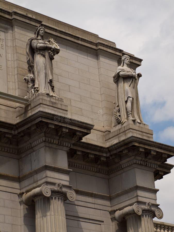 在华盛顿特区的联合岗位 库存照片