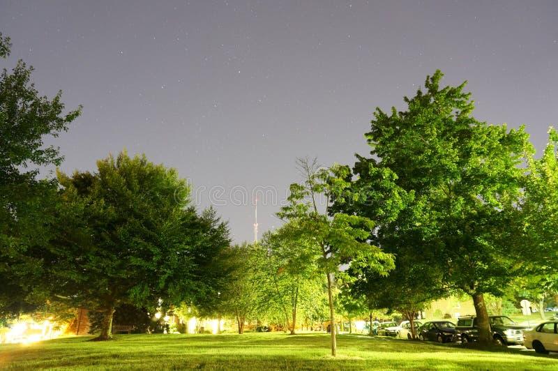 在华盛顿特区的满天星斗的夏夜 免版税库存照片