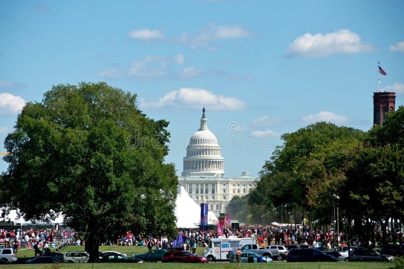 在华盛顿特区的2012本书节日 免版税图库摄影