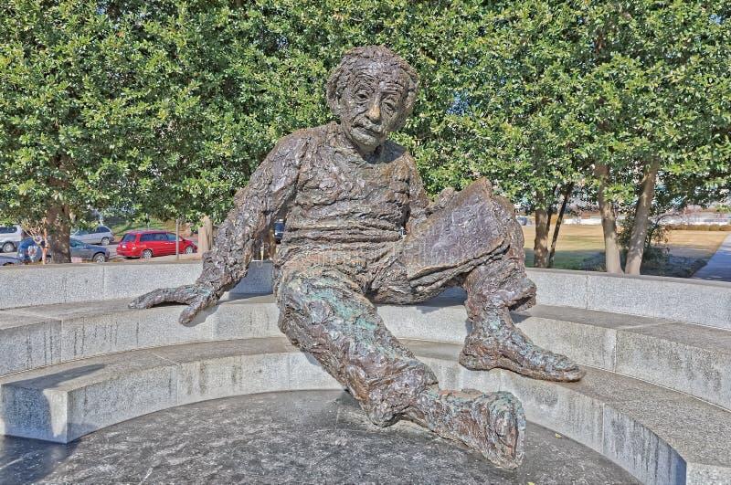 在华盛顿特区美国的阿尔伯特・爱因斯坦纪念品 库存照片