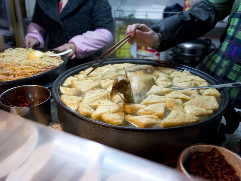 在南京fuzimiao的著名快餐 库存图片