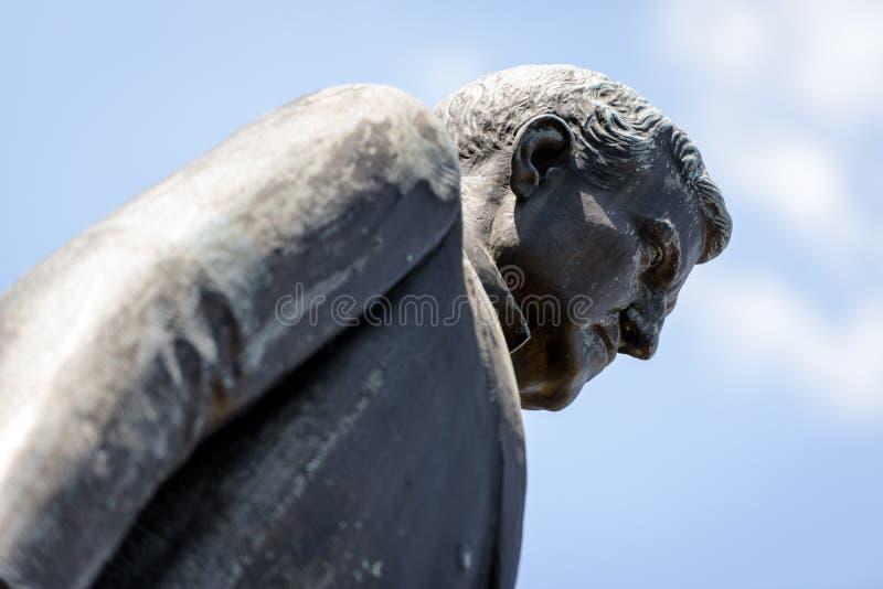 在南卡罗来纳状态议院的本杰明赖安Tillman雕象在哥伦比亚 免版税库存照片