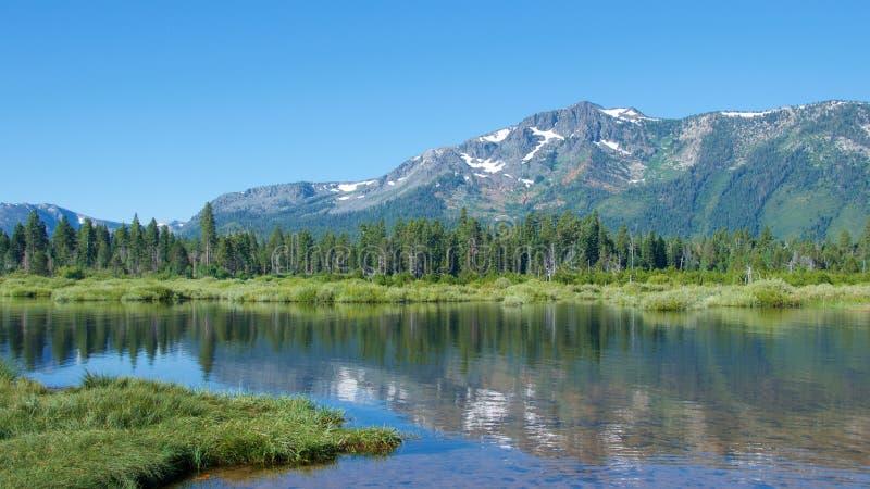 在南太浩湖的风景在加利福尼亚 图库摄影