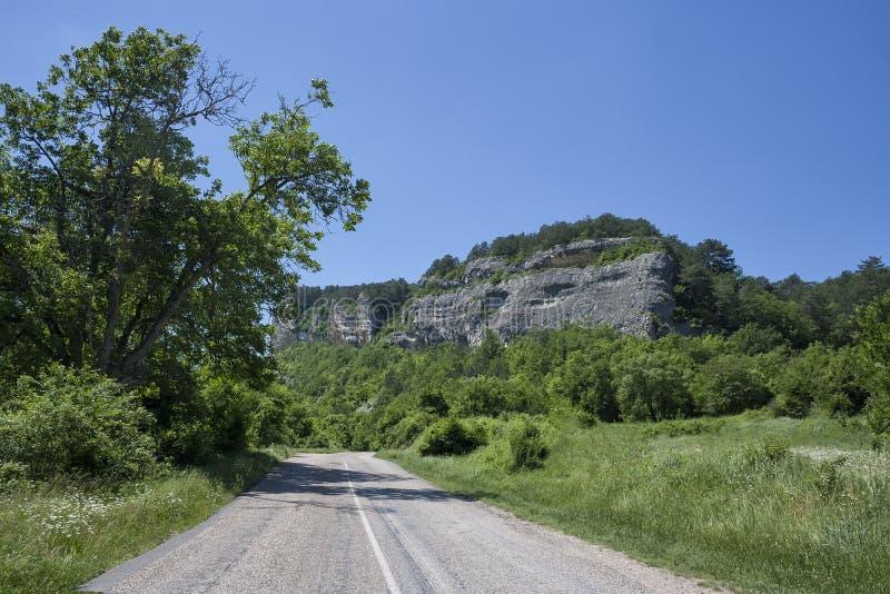 在南海岸的美丽的农村山路 免版税图库摄影