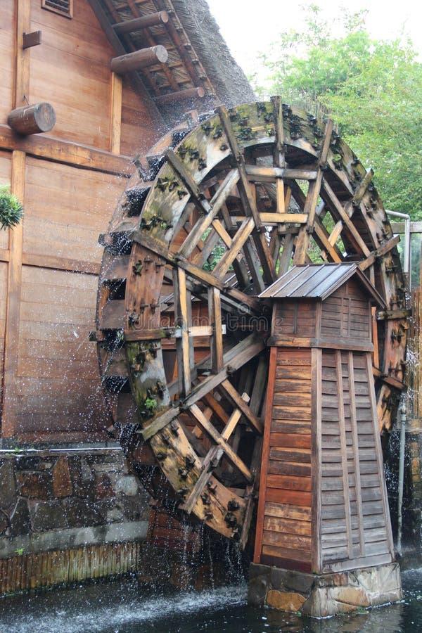 在南连家庭院的水轮,香港 免版税库存图片