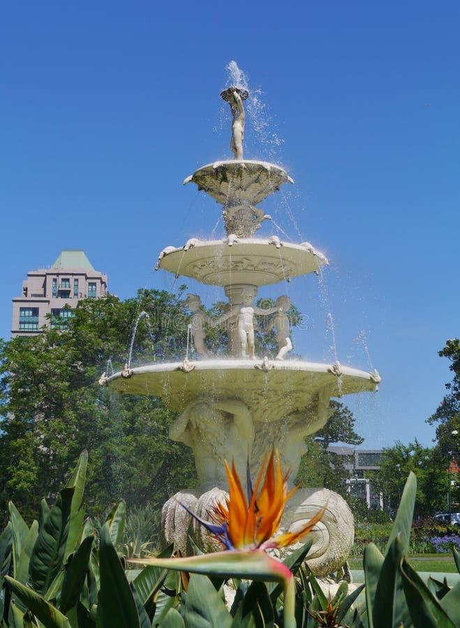 在南部或卡尔顿庭院的喷泉 免版税库存图片