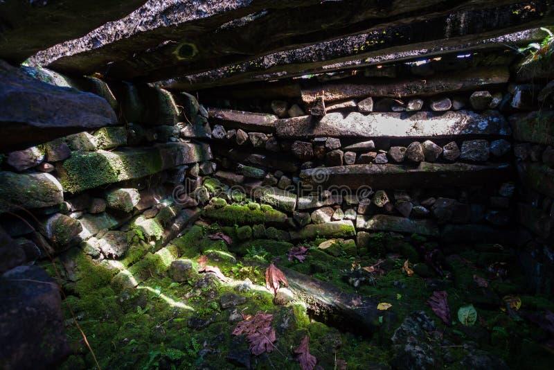 在南里面Madol墙壁的Saudeleur陵墓,由大bas做成 库存照片