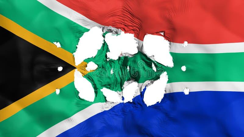 在南非旗子的孔 向量例证