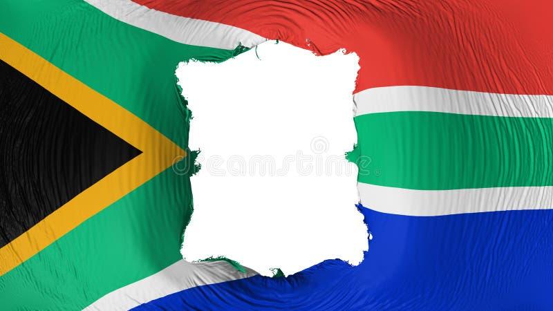 在南非旗子的方孔 库存例证