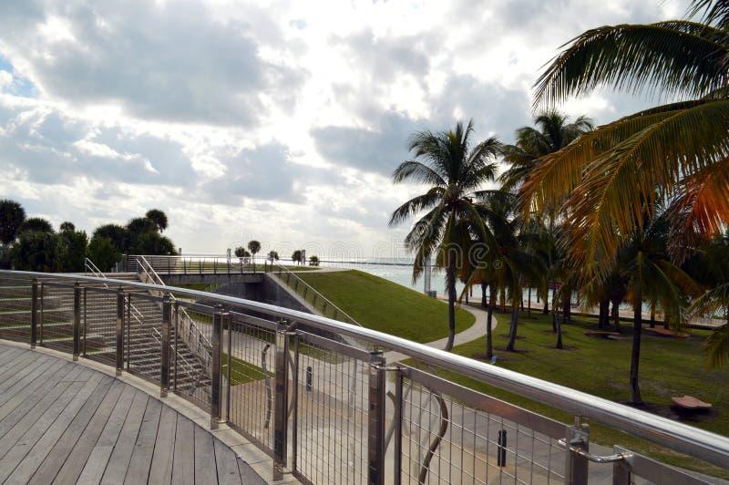 在南Pointe公园的海滩,南海滩,佛罗里达 免版税库存图片