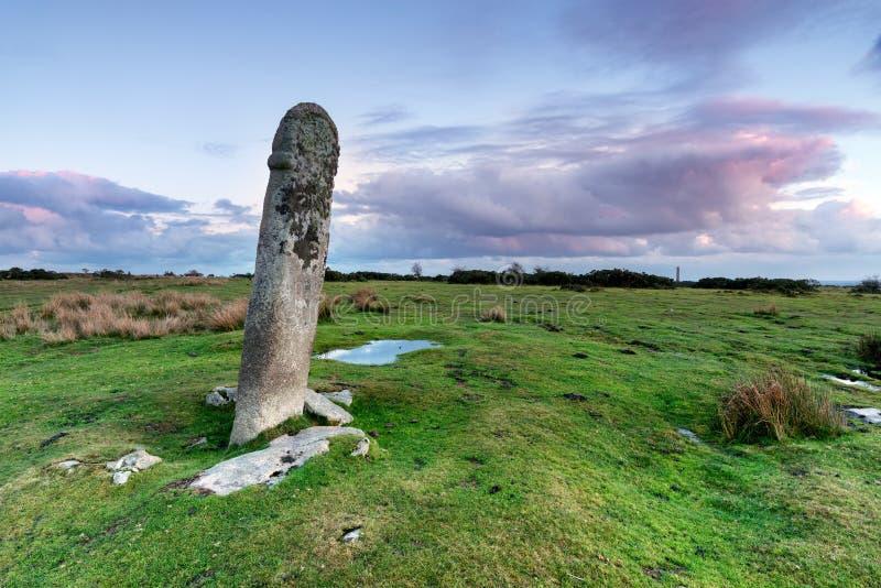 在博德明的常设石头停泊 免版税库存照片