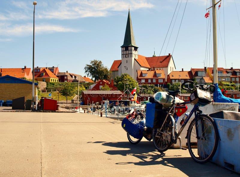 在博恩霍尔姆的自行车 免版税库存照片