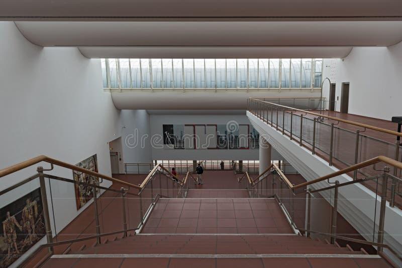 在博物馆路德维希,科隆香水,德国的楼梯 库存图片