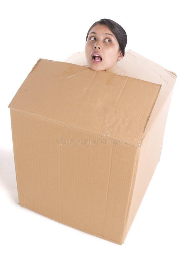在卡住里面的配件箱 免版税库存照片