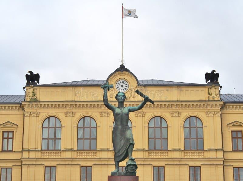 在卡尔斯塔德,瑞典的和平纪念碑 免版税库存照片