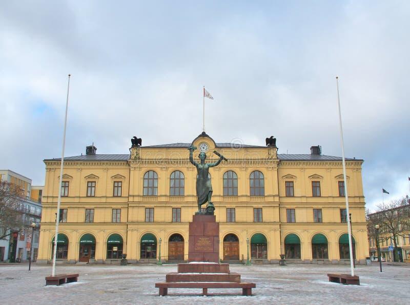 在卡尔斯塔德,瑞典的和平纪念碑 免版税库存图片