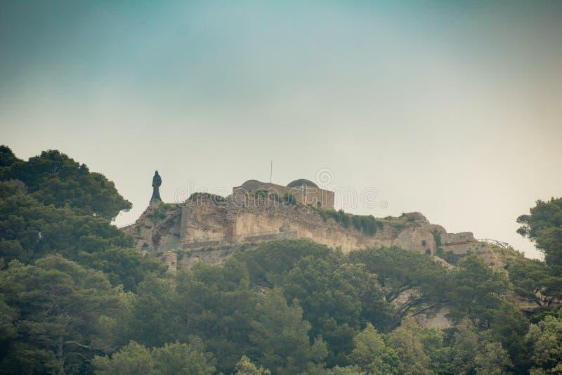 在卡普里,意大利海岛上的著名别墅Jovis  免版税库存照片