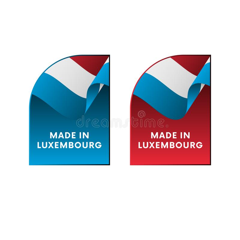 在卢森堡制造的贴纸 也corel凹道例证向量 向量例证