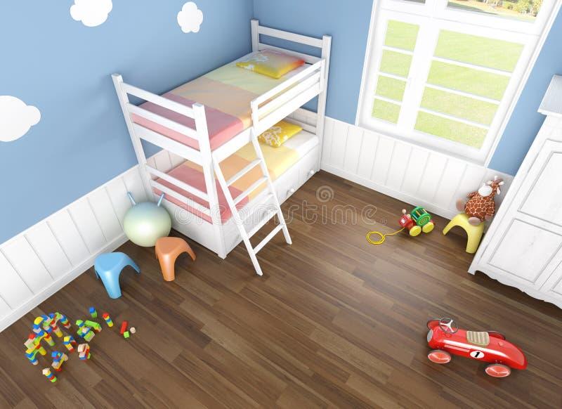 在卧室子项s之上被看见 库存例证