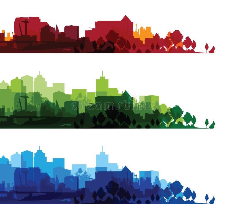 在印刷品都市风景 库存例证