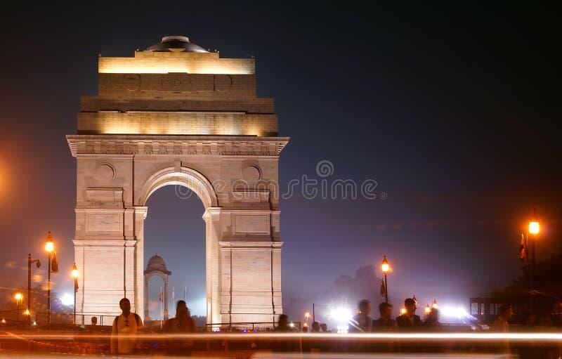 在印地安门的一个晚上 免版税库存照片