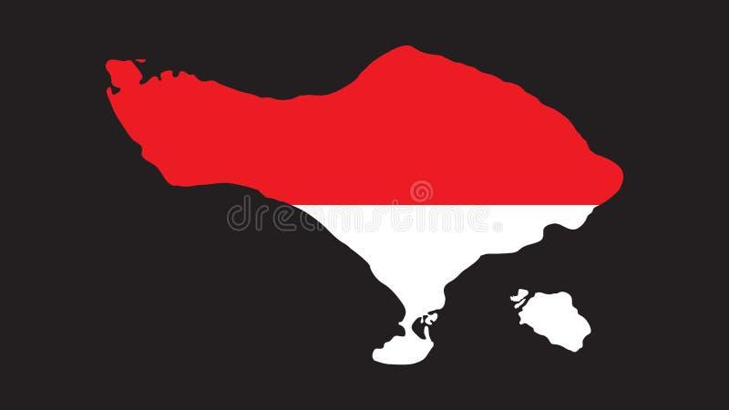 在印度尼西亚旗子的优质巴厘岛传染媒介 库存照片