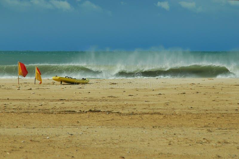 在印度洋海岸的波浪 免版税库存图片