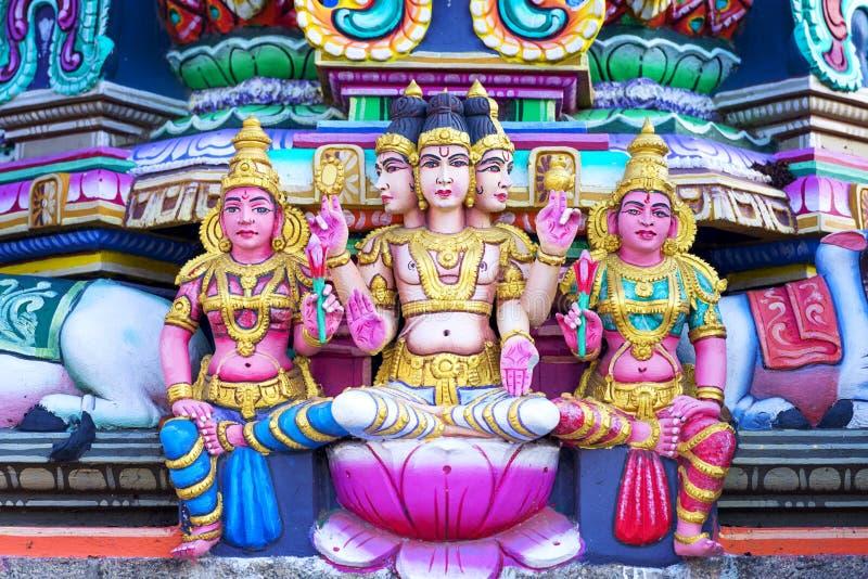 在印度Kapaleeshwarar寺庙的阁下bramma,金奈,泰米尔人Na 免版税库存图片