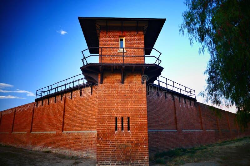 在历史的监狱的监狱塔 免版税图库摄影