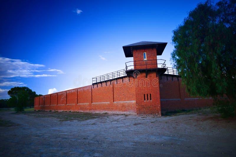 在历史的监狱的监狱塔 免版税库存照片