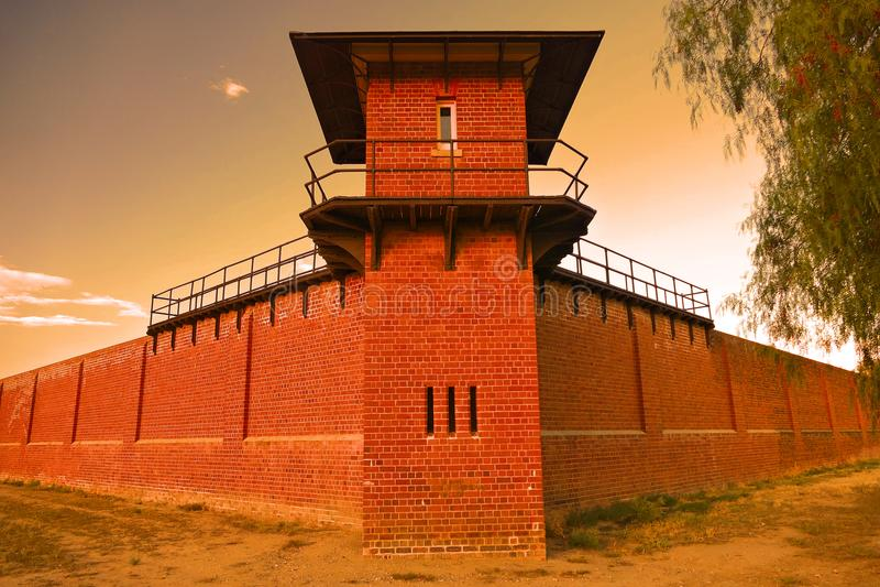 在历史的监狱的监狱塔 库存图片