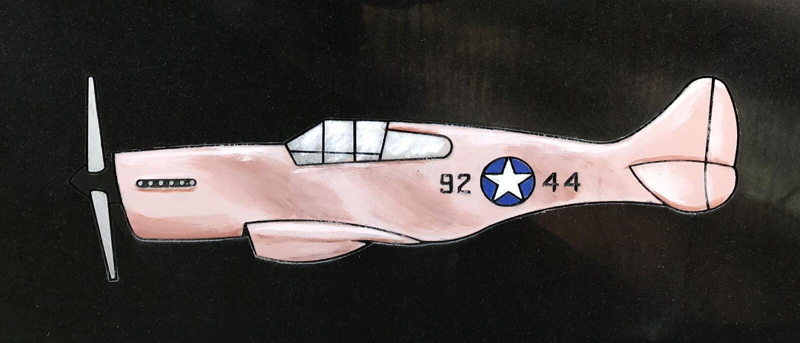 在历史的Tuskegee空军的一架红色飞机纪念在Walterboro,南卡罗来纳,美国 库存图片