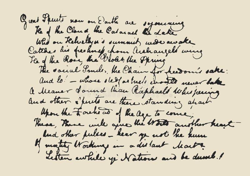 在原稿上写字 皇族释放例证