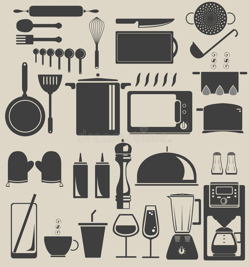 在厨房里 库存例证