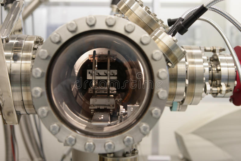 在反应器里面的射线化工外延 免版税库存照片
