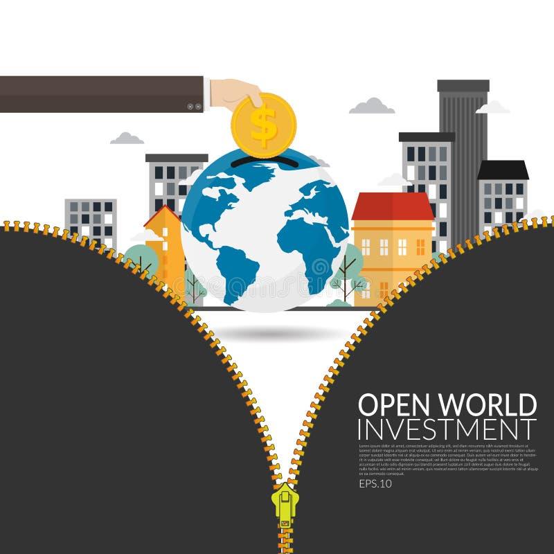 在发展中国家的跨国公司投资开放新视野号经济发展的和公司战略的 库存例证