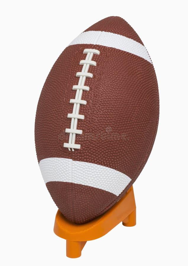 在发球区域的橄榄球 免版税图库摄影