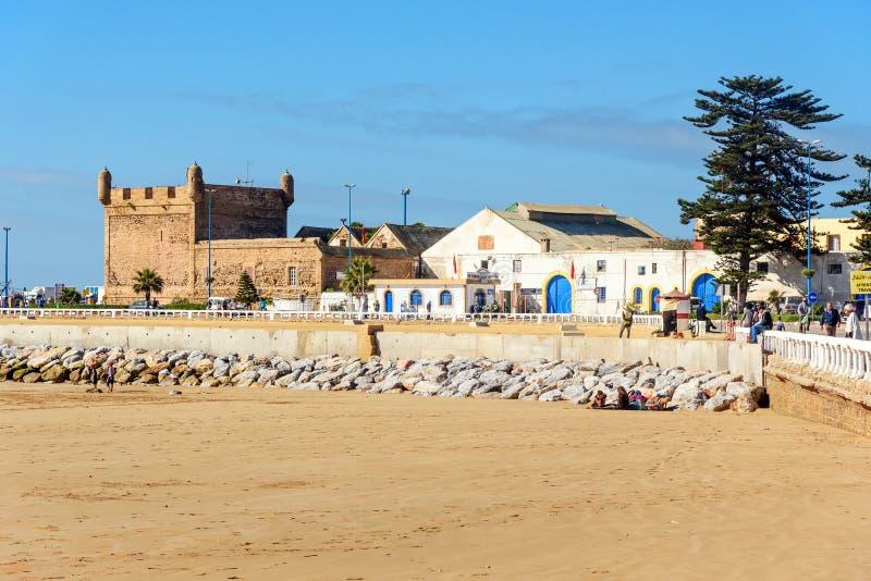 在口岸的看法在索维拉 摩洛哥 免版税图库摄影